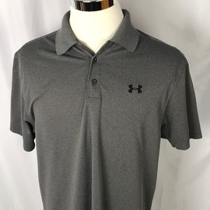 Under Armour loose heat gear grey polo large
